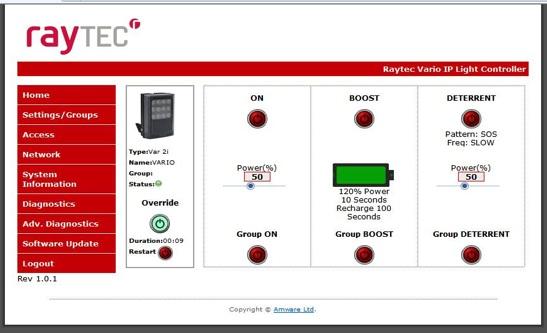 Vario IP Web Interface
