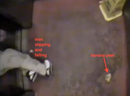 Caught on Camera: Slipping on a Banana Peel