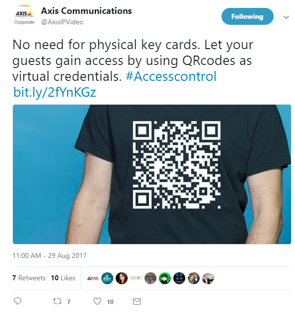 Axis: Use QR Codes Instead of Access Cards