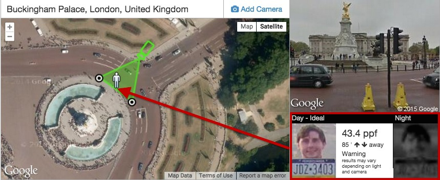 Camera Design Tool With Google Maps Integration - Current google maps satellite