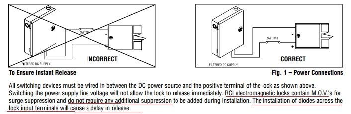 External Mag Lock Wiring Diagram