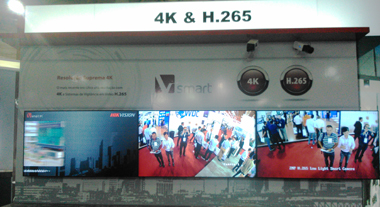 Hikvisin booth at ISC Brazil 2015