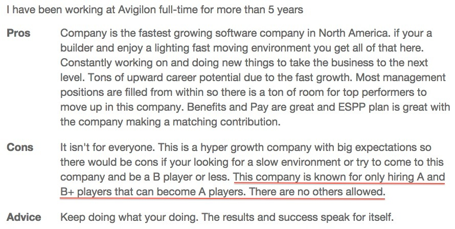 Avigilon Employee Reviews