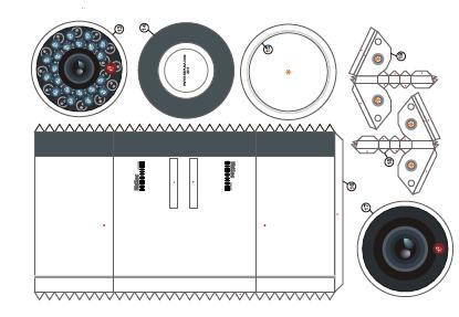 Камера Видеонаблюдения GINZZU HAB-1033O уличная камера 4 в1 (AHD,TVI,CVI,CVBS) 1.0Mp (1/4