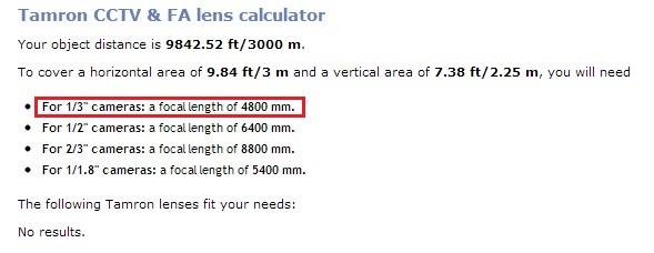 tamron lens calculator