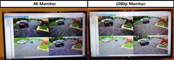Testing 4K Monitors for Surveillance