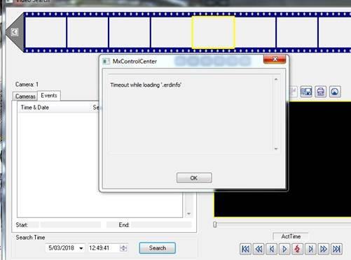 Controlcenter error code