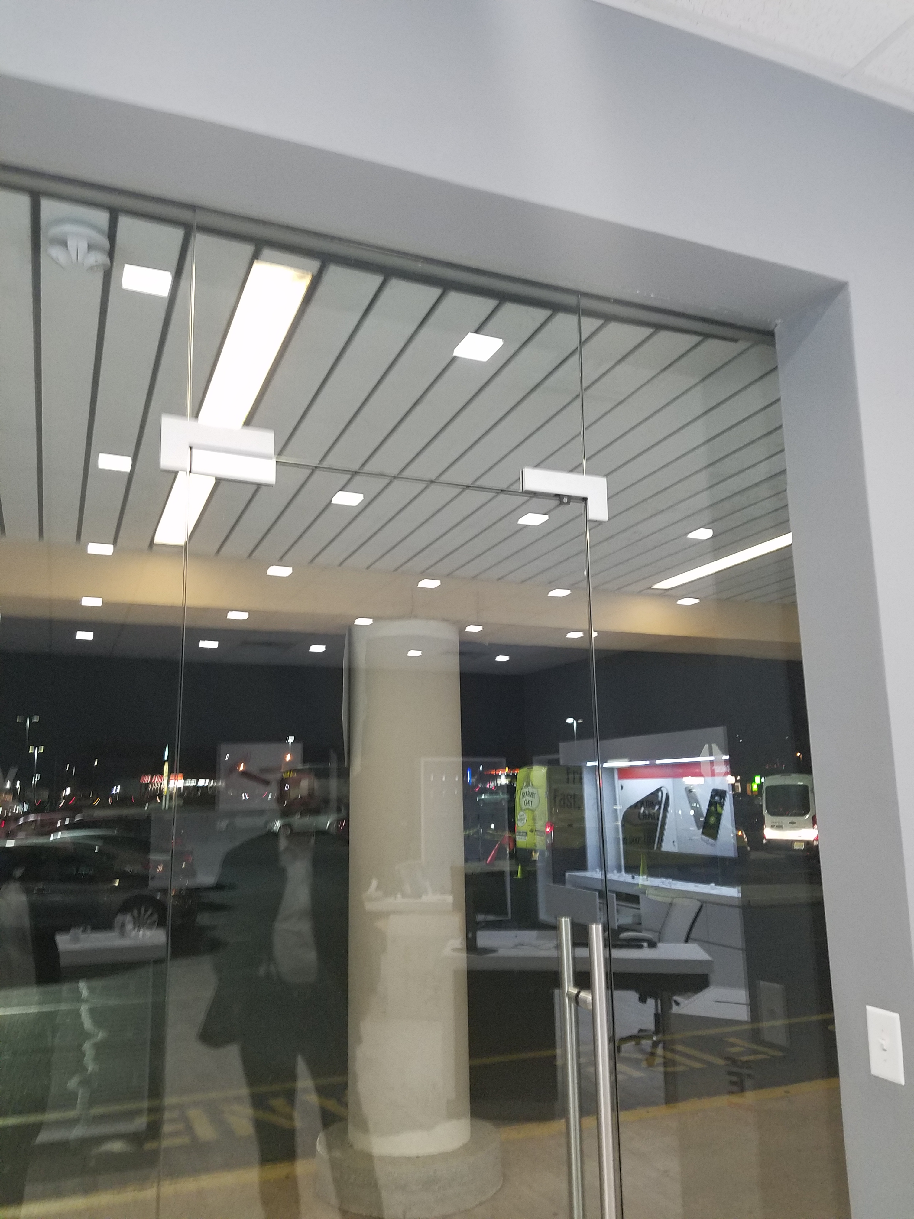 Storefront Windows And Doors how to put a maglock on a 100% glass door with glass windows