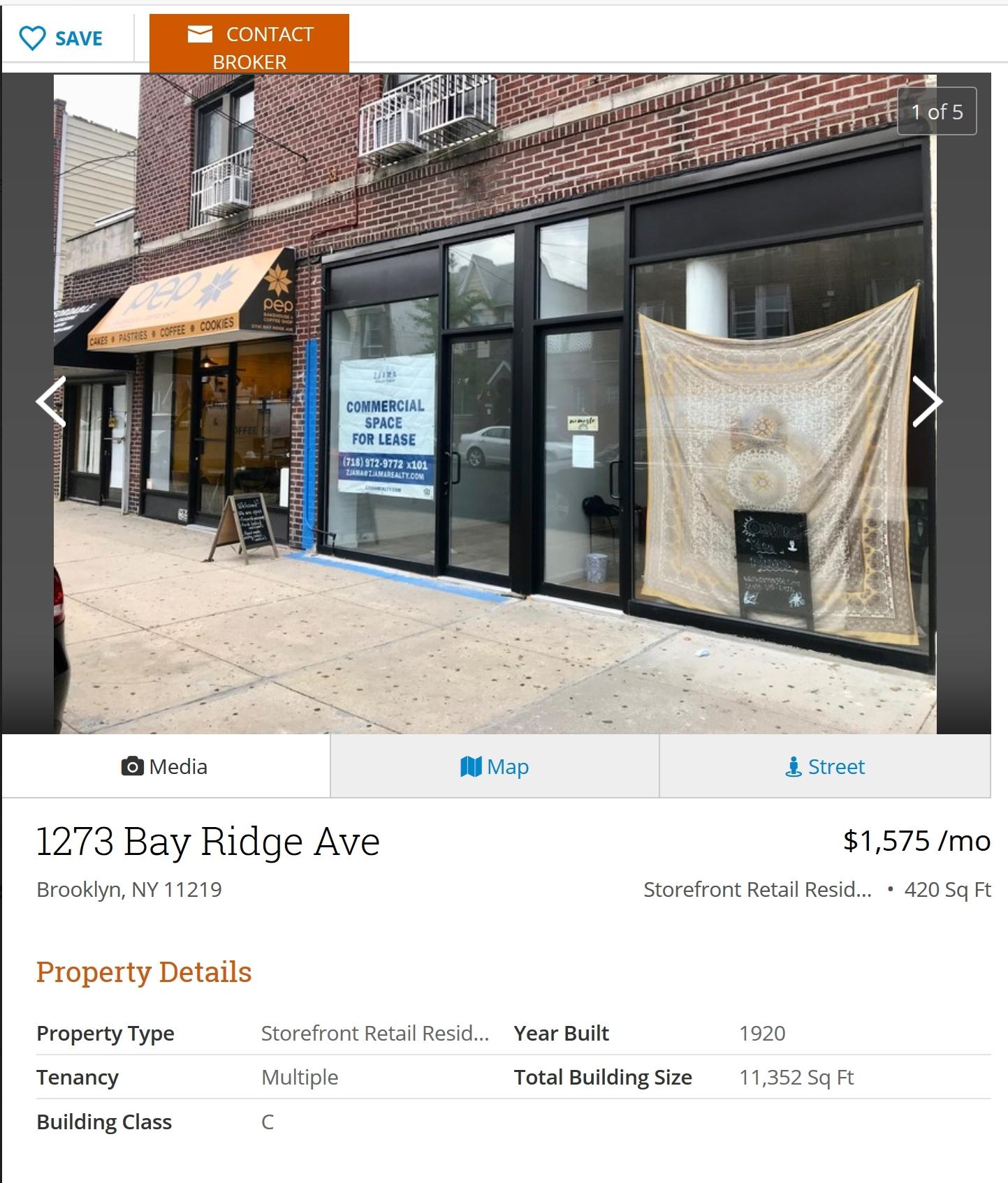 Actual Rent in Brookyln