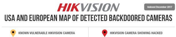 Hacked Hikvision IP Camera Map USA And Europe