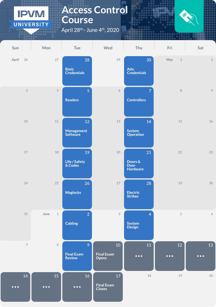 schedule - access control - 2020 spring