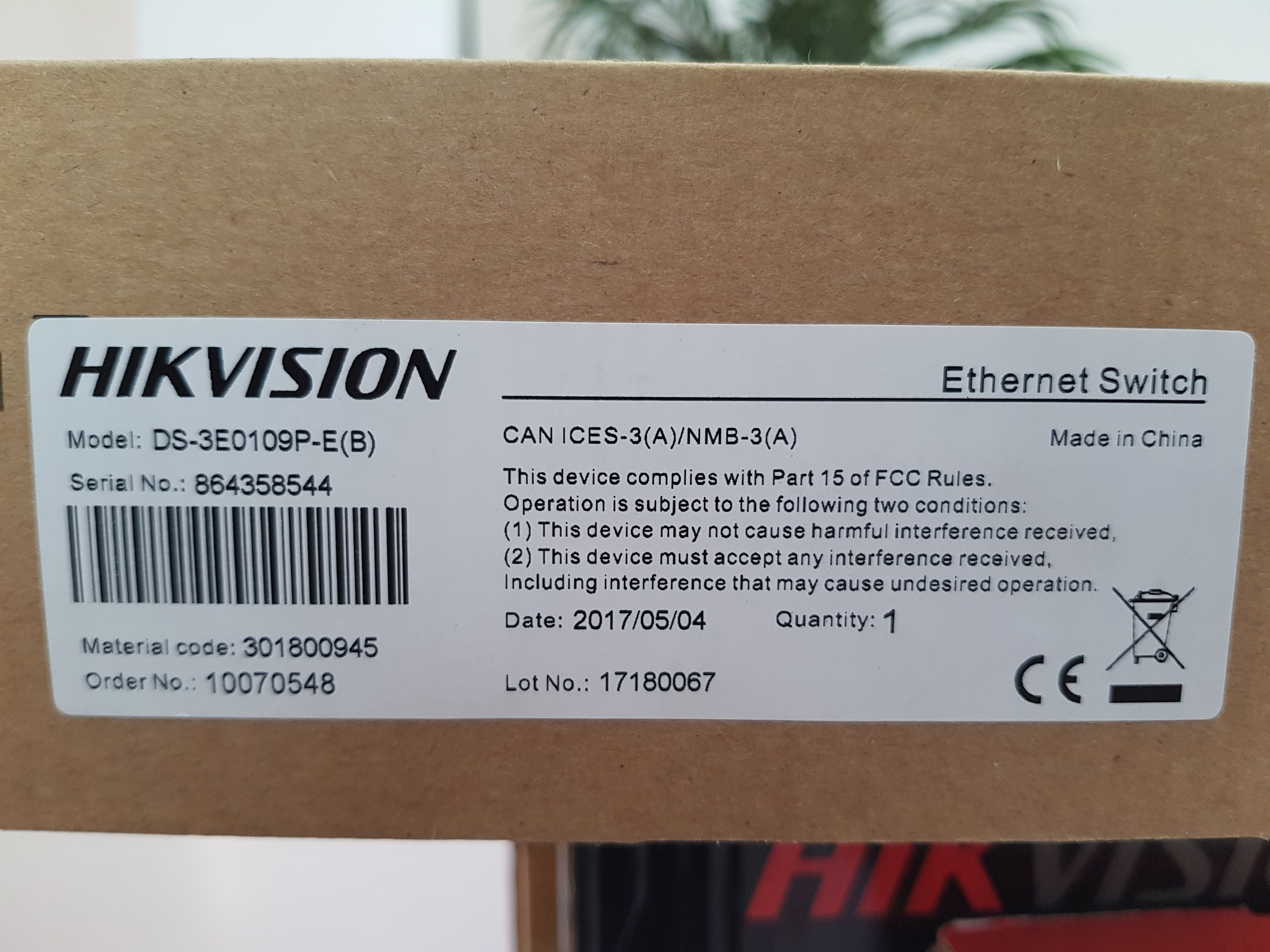 Hikvision PoE switch