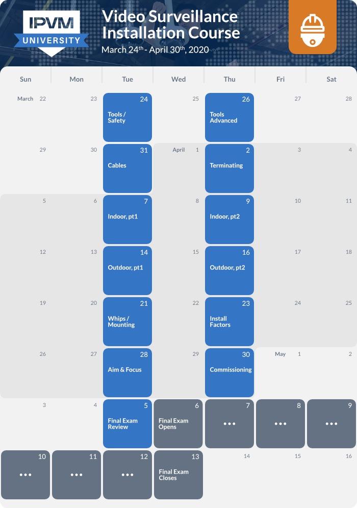 schedule - installation - 2020 spring