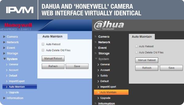 camera web interface virtually identical