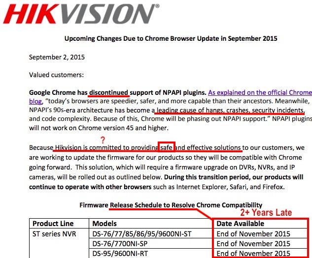 Hikvision Fails To Fix Unsafe Browser Plugin