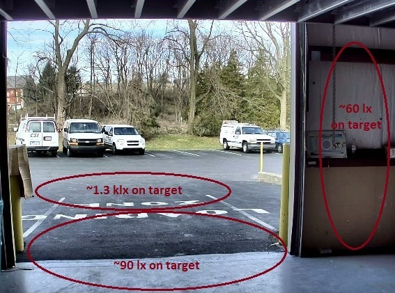 garage door scene
