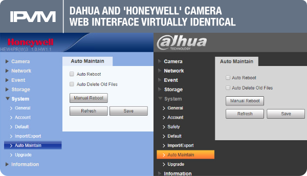 camera web interface virtually identical