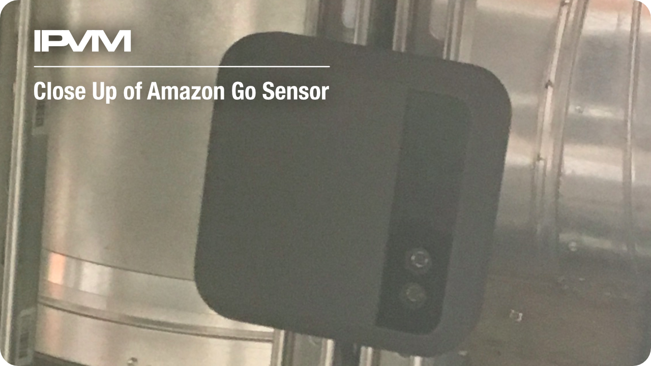 close up of amazon go sensor