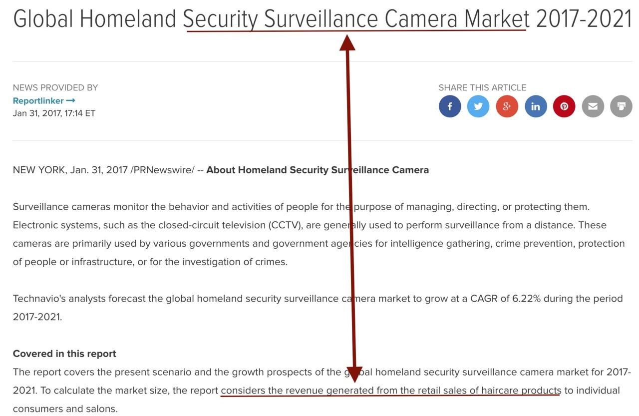 Beware Scam Market 'Research'