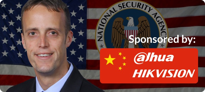 NSA director sponsored by Dahua and Hikvision