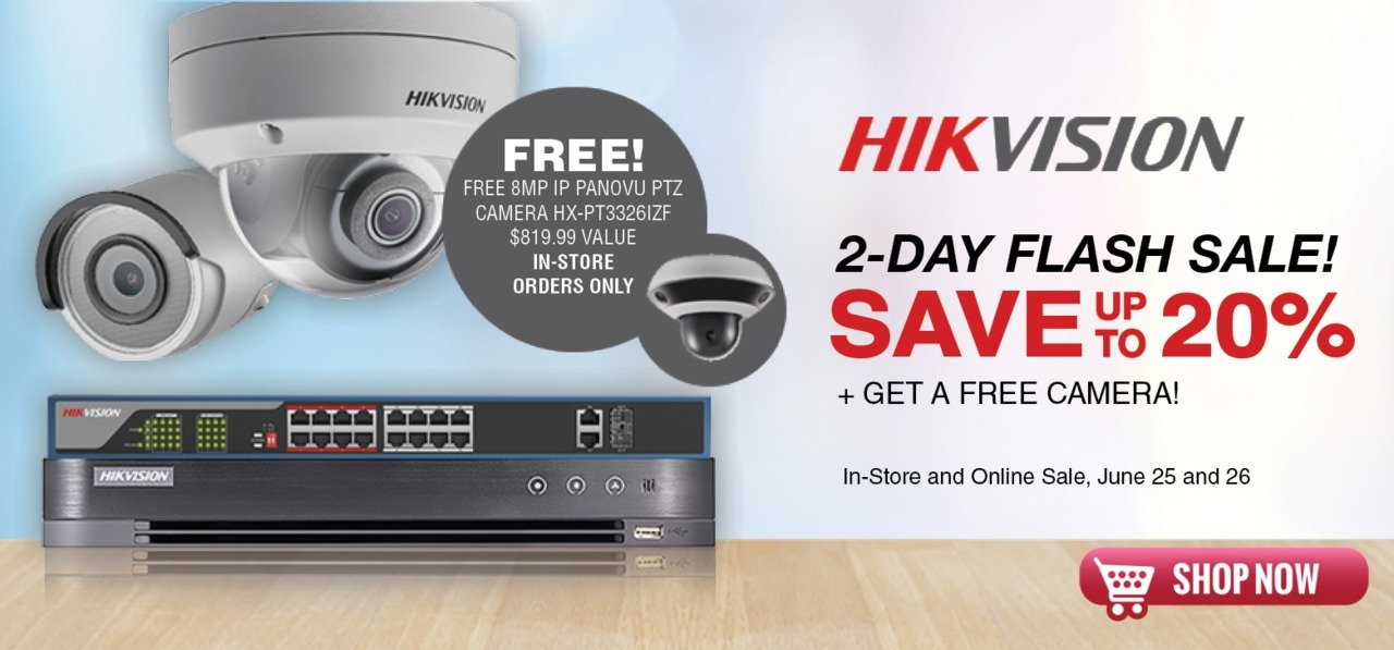 Hikvision USA Giving Free Cameras In Biggest Flash Sale