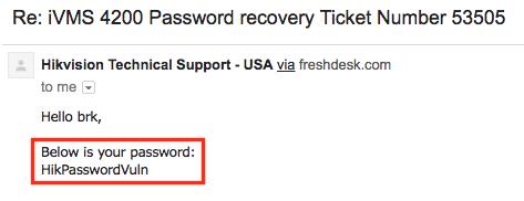 Hikvision password reset request equifax