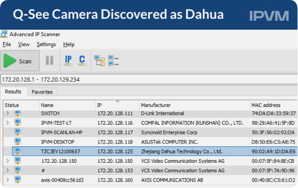 Q-See Camera Discovered as Dahua
