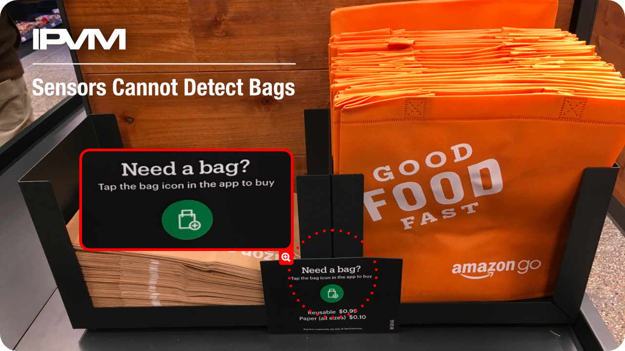 sensors cannot detect bags
