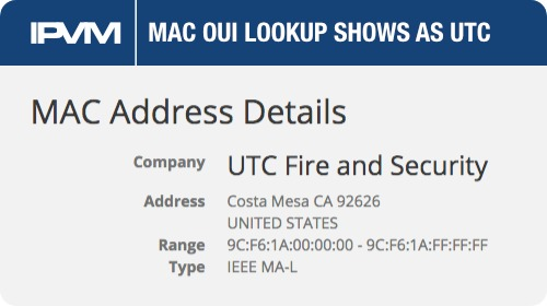 MAC OUI Lookup Shows as UTC