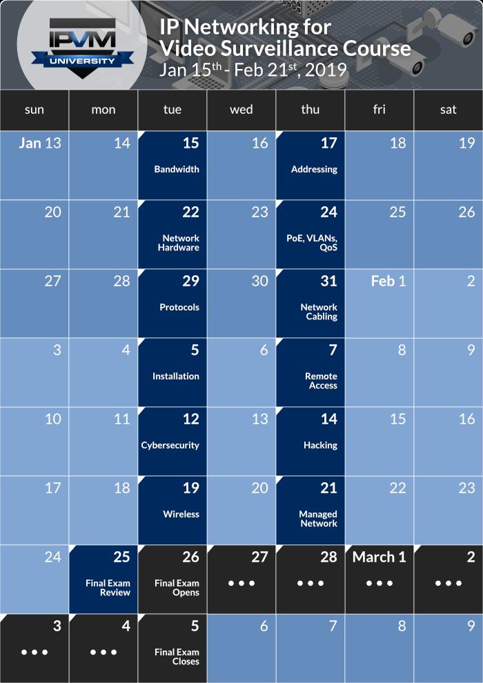 schedule - networking course jan 2019 2