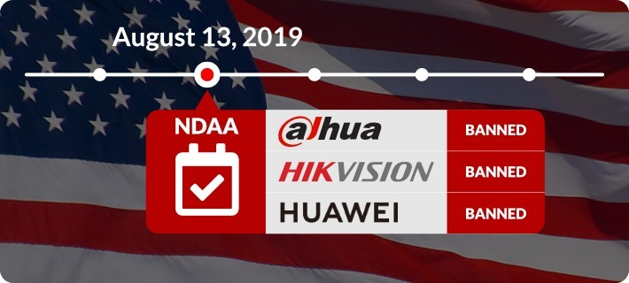 US Government Ban of Dahua, Hikvision, Huawei Takes Effect Now