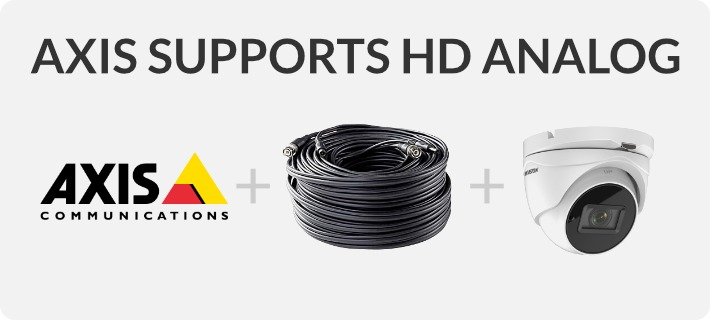 Axis Supports HD Analog