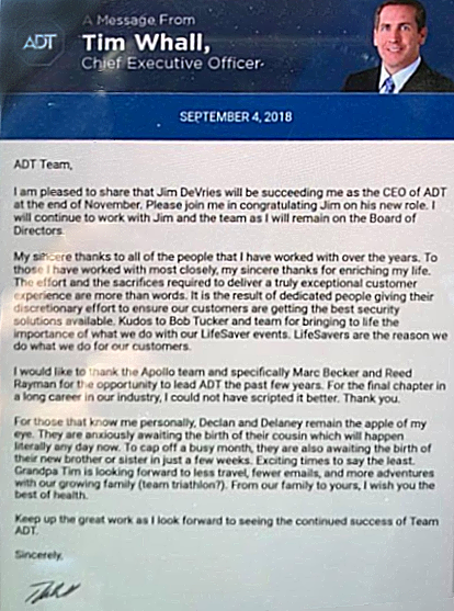 adt ceo message