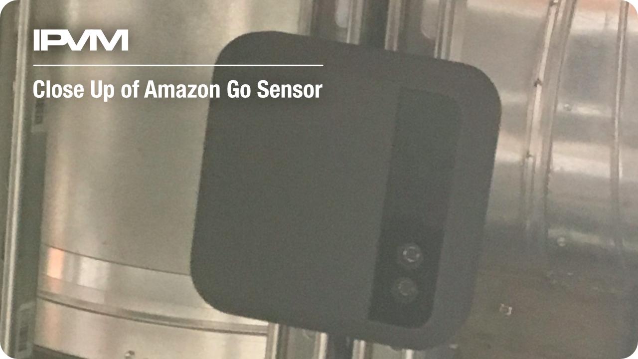 close up of amazon go sensor