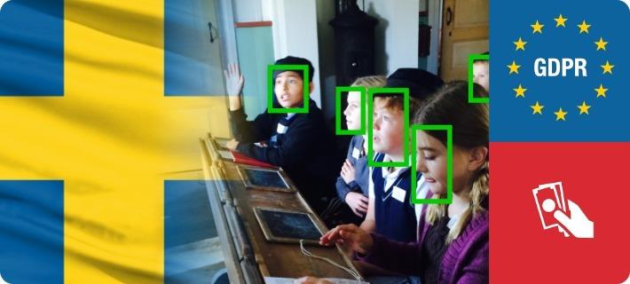 sweden gdpr fine school face recognition