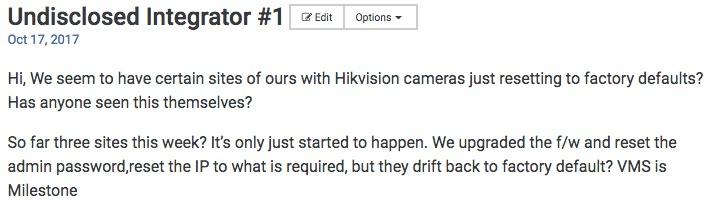 Hikvision UPnP Hacking Risk