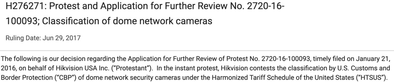 The Scheme Hikvision and China Importers Use To Avoid Tariffs