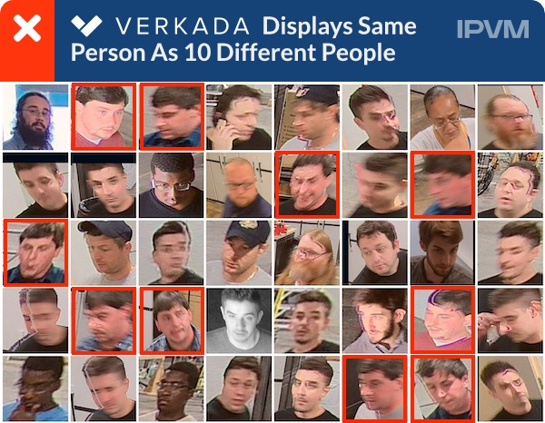 Verkada Displays Same Person As 10 Different Subjects