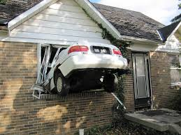 Image result for car house accident
