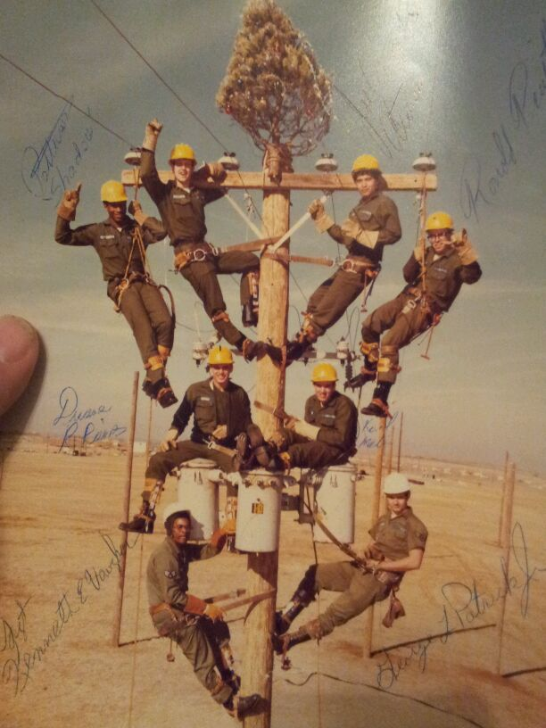 Lineman School at christmas 1979